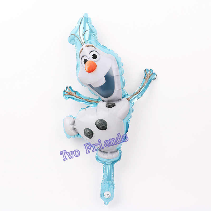 5pcs/lot cartoon Elsa Anna Snow queen Princess Foil Balloons air Inflatable Globo Baby Shower Birthday Party Decorations toys