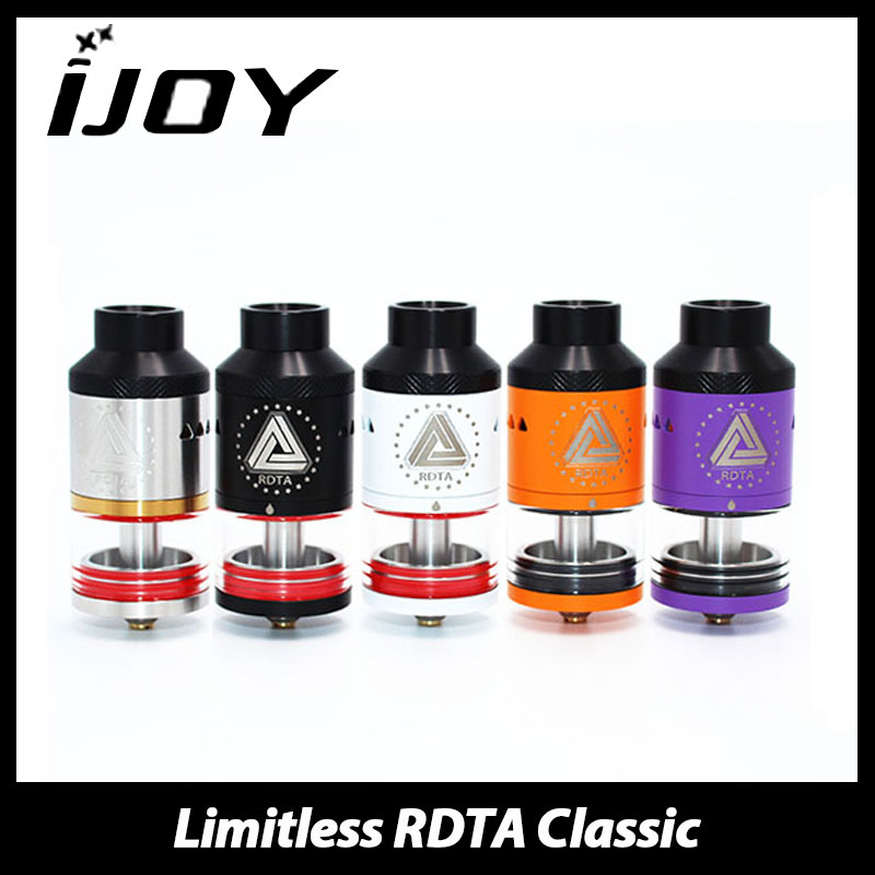 Authentic IJOY Limitless RDTA Atomizer 6.9ml with RBA Head RDTA Classic Edition Rebuildable Tank with 11 optional decks/coils original ijoy limitless rdta classic edition tank 6 9ml huge capacity atomizer with side fill