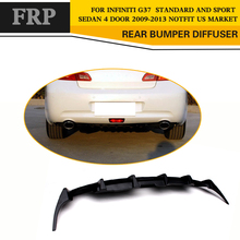 Car Styling FRP Rear Diffuser lip Spoiler for Infiniti G37 Base Sedan Sport 4Door 2010-2013 Not USA Market