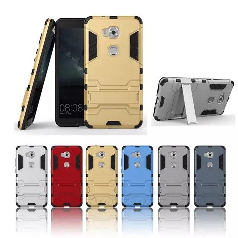 Doble capa resistente híbrido armor case para huawei honor 5x/google honor 5x cu