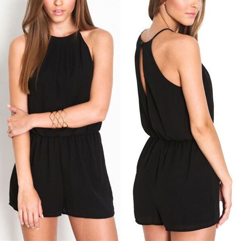 Women Romper Casual Jumpsuits Summer Playsuits Off Shoulder Sleeve Overalls