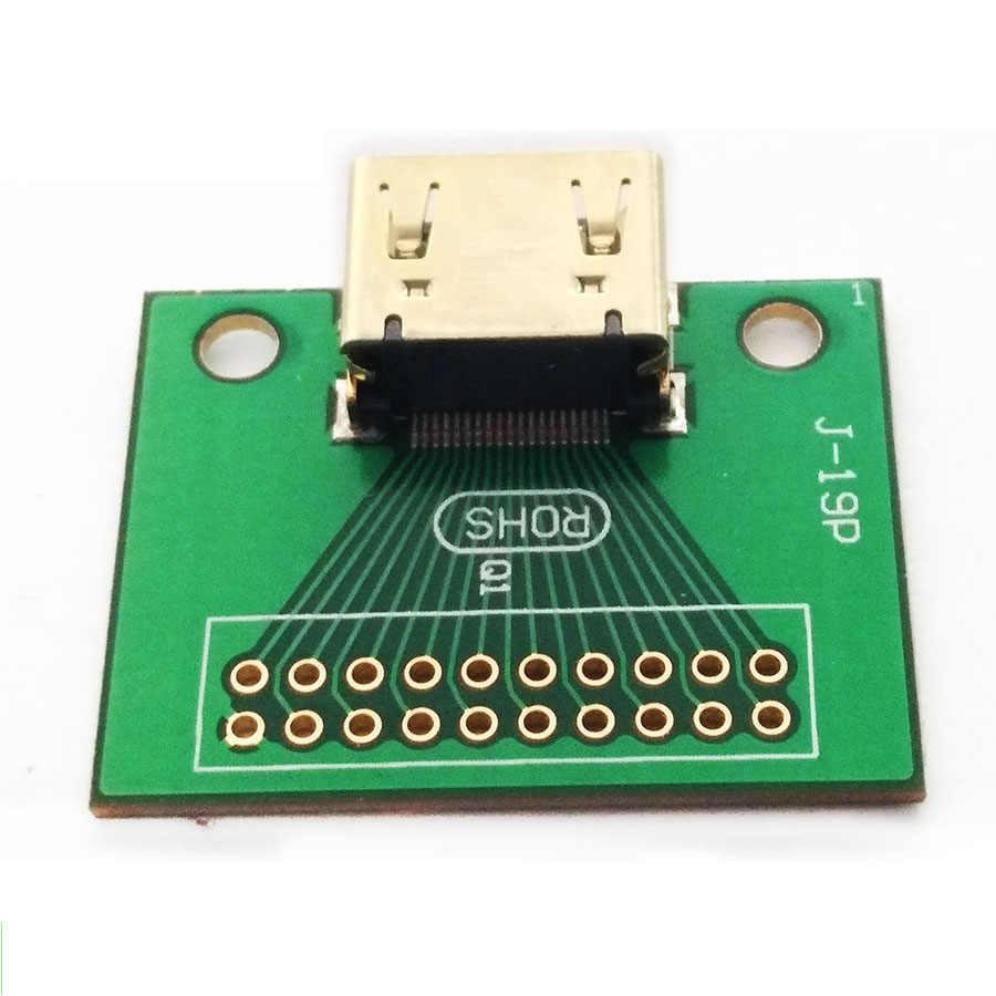 EClyxun 1 шт. позолоченный HDMI 19Pin тестовый разъем Jack HDMI 19 Pin адаптер тестовая плата с печатной платой