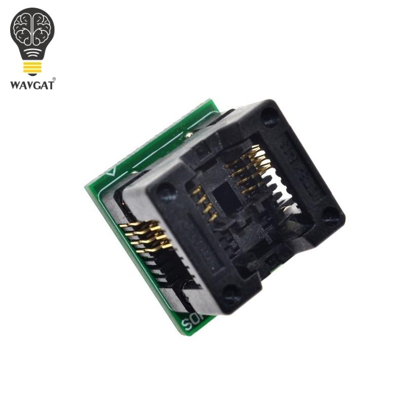 WAVGAT SOIC8 SOP8 to DIP8 Wide-body Seat Wide 200mil Programmer Adapter Socket BlueWAVGAT SOIC8 SOP8 to DIP8 Wide-body Seat Wide 200mil Programmer Adapter Socket Blue