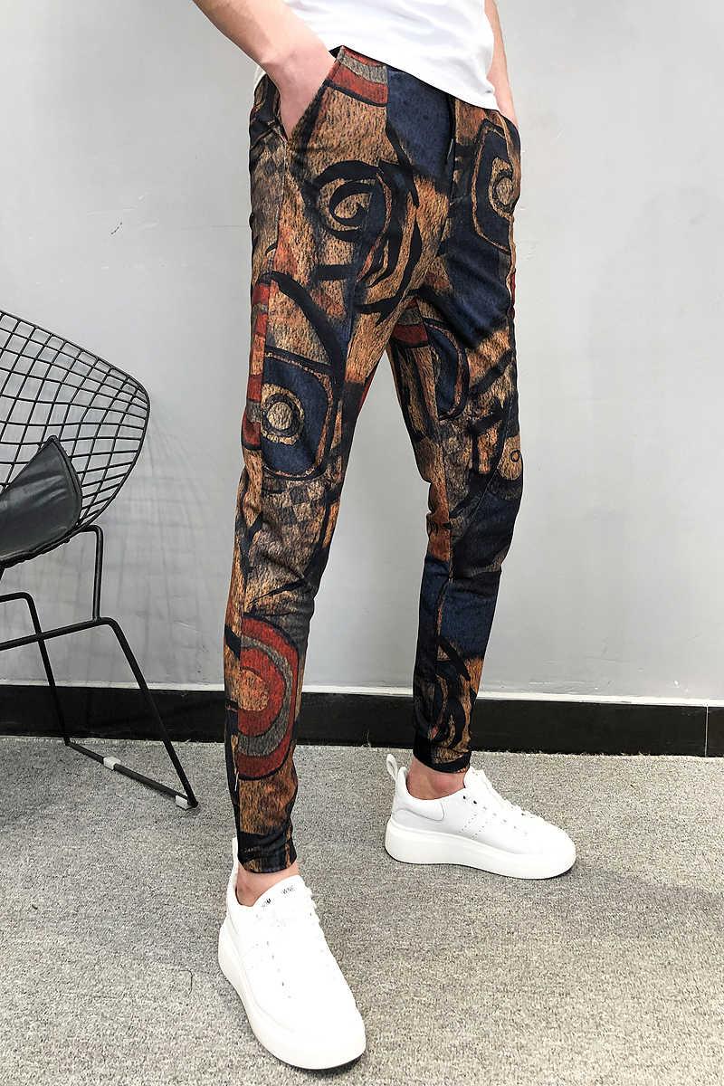 Persoonlijkheid Afdrukken Joggers Broek Heren Zomer Streetwear Mannelijke Hip Hop Casual Harembroek Pantalon Homme Moletom Masculino