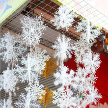 30Pcs Christmas Snow flakes White Snowflake Ornaments Holiday Christmas Tree Decortion Festival Party Home Decor JD124