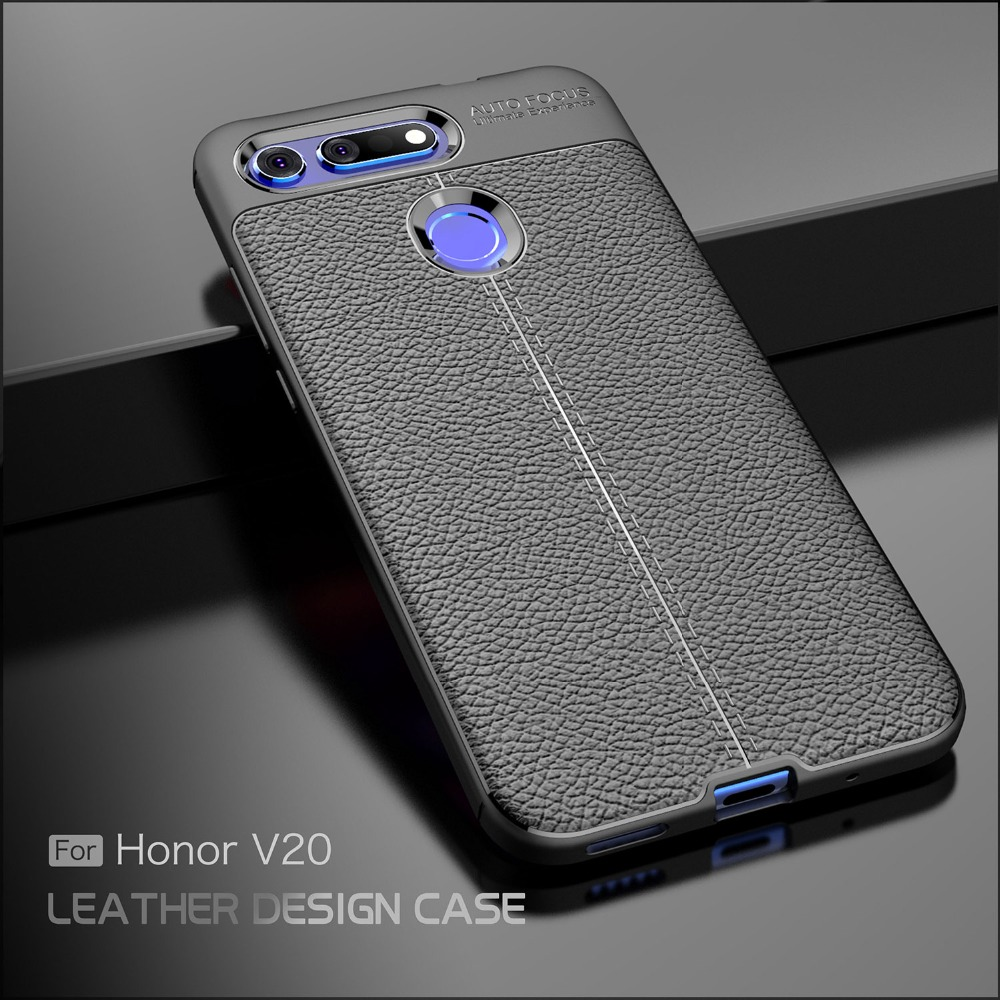 For Huawei Honor View 20 Case Carbon Fib