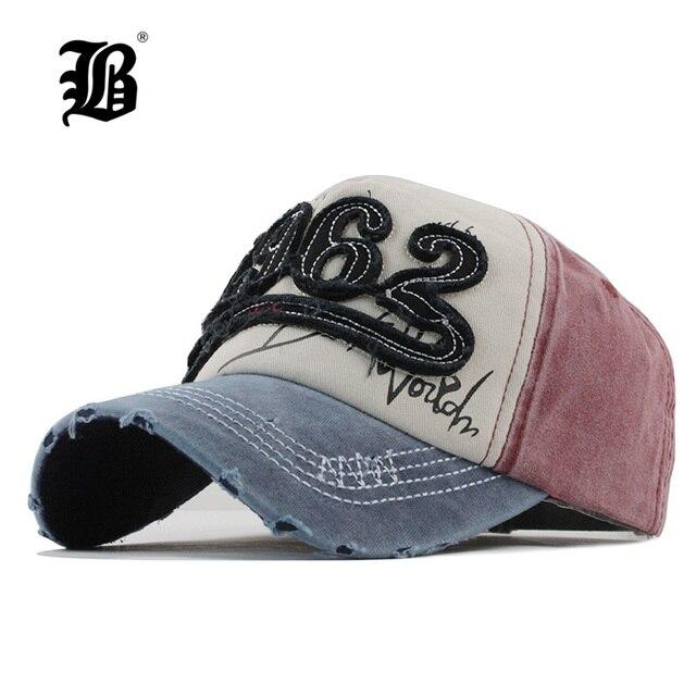 FLB  2018 Denim Lavato berretto Da Baseball Cappelli di Snapback Autunno Estate  Cappello per 4dddf85d4ddb