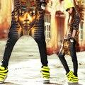Новый 2016 Harajuku Хип-Хоп Брюки Шаровары Женщин Хабар Египетского Фараона Брюки Плюс Размер Женщин Брюки