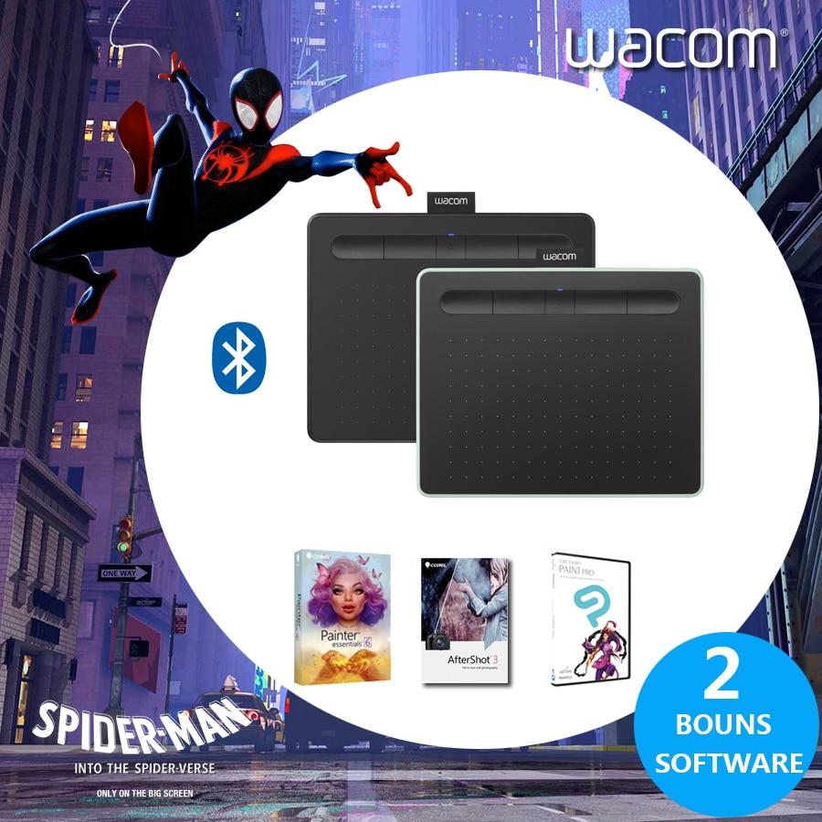 Wacom Intuos CTL-4100WL Sans Fil tablette numérique Graphique Dessin Comprimés 4096 Niveaux de Pression + 3 Bonus Softwar + paquet-cadeau