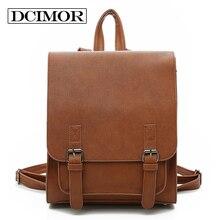 Dcimor Для женщин рюкзак высокое качество Молодежный кожаный Рюкзаки для подростков Обувь для девочек Женский школьная сумка рюкзак Mochila черный