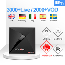 IUDTV Code IPTV A5X Max UK Swedish Greece IPTV Subscription Set Top Box Android 9.0 Spain Greece India IPTV Italy Germany IP TV
