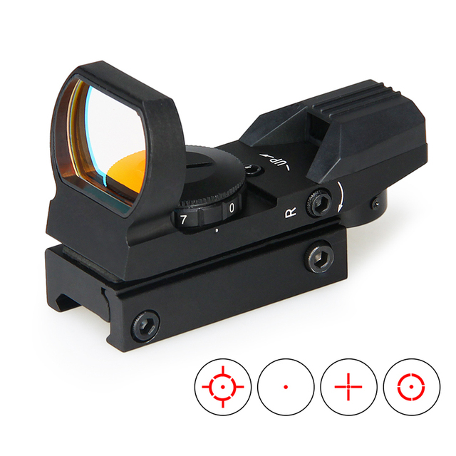 PPT hunting optics 1X22 Reflex 4 reticles red dot sight tactical airsoft scopes air gun accessories GZ2-0091A