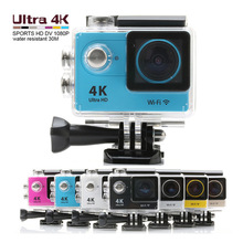 New H9 4K Action Camera Wifi Ultra HD Cam Cycling Car DVR Diving 30M Waterproof Sports Camera 170 Wide Angel Lens 2-inch Helmet