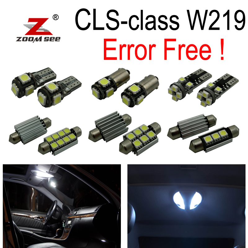 27pcs LED interior dome lamp full kit + Parking city bulb For Mercedes Benz CLS W219 C219 CLS280 CLS300 CLS350 CLS550 CLS55AMG 10pcs error free led lamp interior light kit for mercedes for mercedes benz m class w163 ml320 ml350 ml430 ml500 ml55 amg 98 05