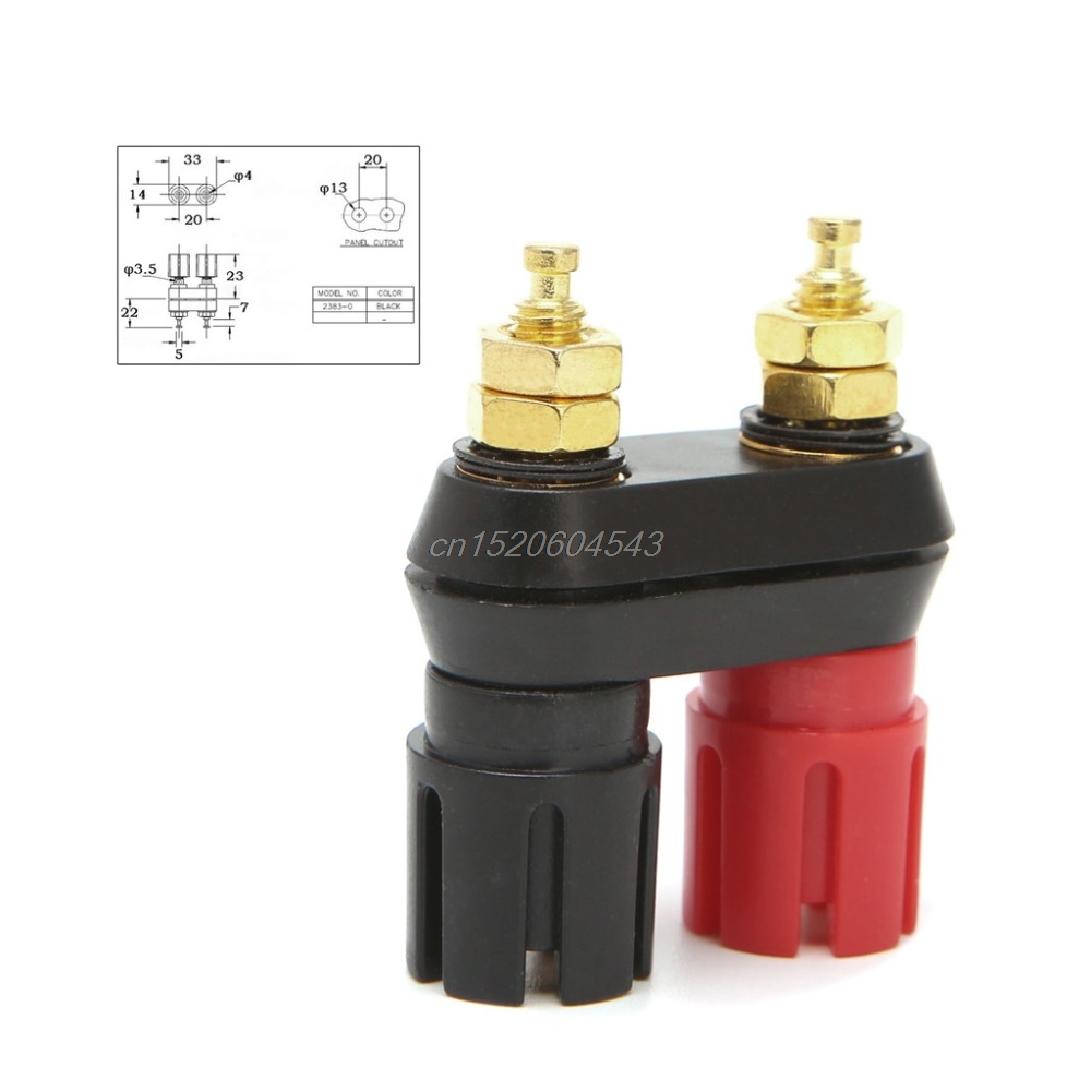 Dual 4mm Banana Plug Jack Socket Binding Post for Speaker Amplifier Terminal Connectors Terminals R06 Drop Ship 2pcs high quality banana plug binding post terminal connector red black couple terminals speaker amplifier wire connectors