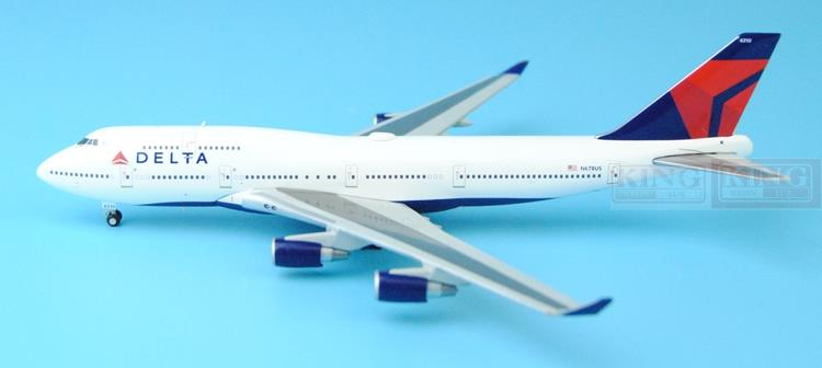 GeminiJets GJDAL1450 America B747-400 N670US 1:400 Delta commercial jetliners plane model hobby a13036 apollo indonesia aviation pk gsh 1 400 commercial jetliners plane model hobby b747 400