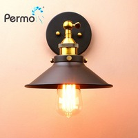 PERMO Vintage Sconce Wall Light Iron Rustic Wall Lamp E27 Lamp Base Industrial Luminaire Home Bar Decorations