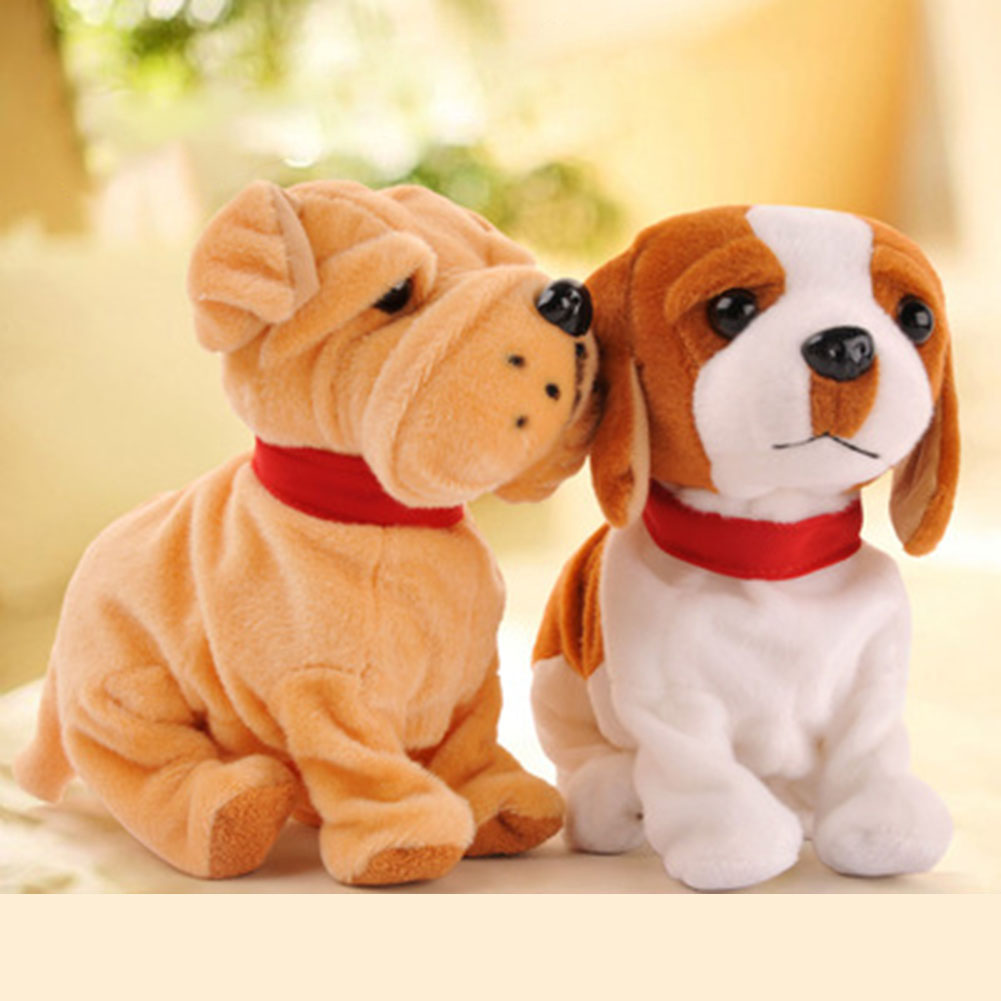 2017 Sound Control Electronic Dogs Interactive Electronic Pets Robot Dog Bark Stand Walk Electronic Toys Dog Children Christmas