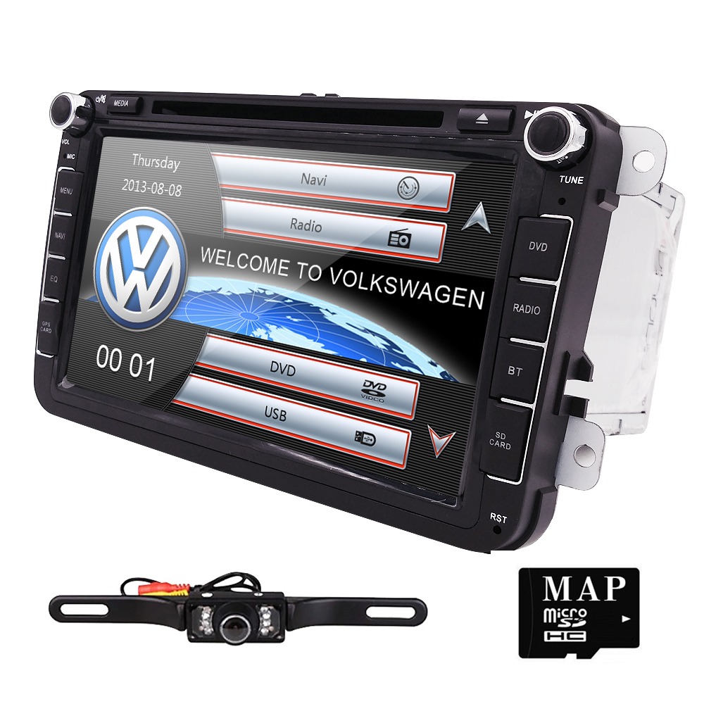 8 inch 2 din car DVD Player GPS navigation for Volkswagen VW Jetta Golf Passat,Polo,Tiguan Skoda Fabia Seat with DAB+ SWC CANBUS