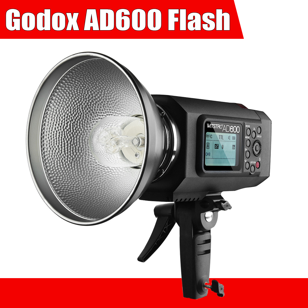 Godox Wistro AD600 TTL 600Ws GN87 HSS 1/8000S Flash Light w/ 2.4G X System 8700mAh Li-on Battery for Canon Nikon DSLR Cameras