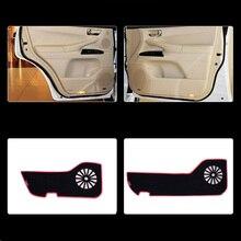 цены 4pcs Fabric Door Protection Mats Anti-kick Decorative Pads For Lexus LX570 2007-2013