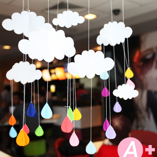 3pcslot Beautiful Cloud Hanging Decoration Birthday Party and Baby