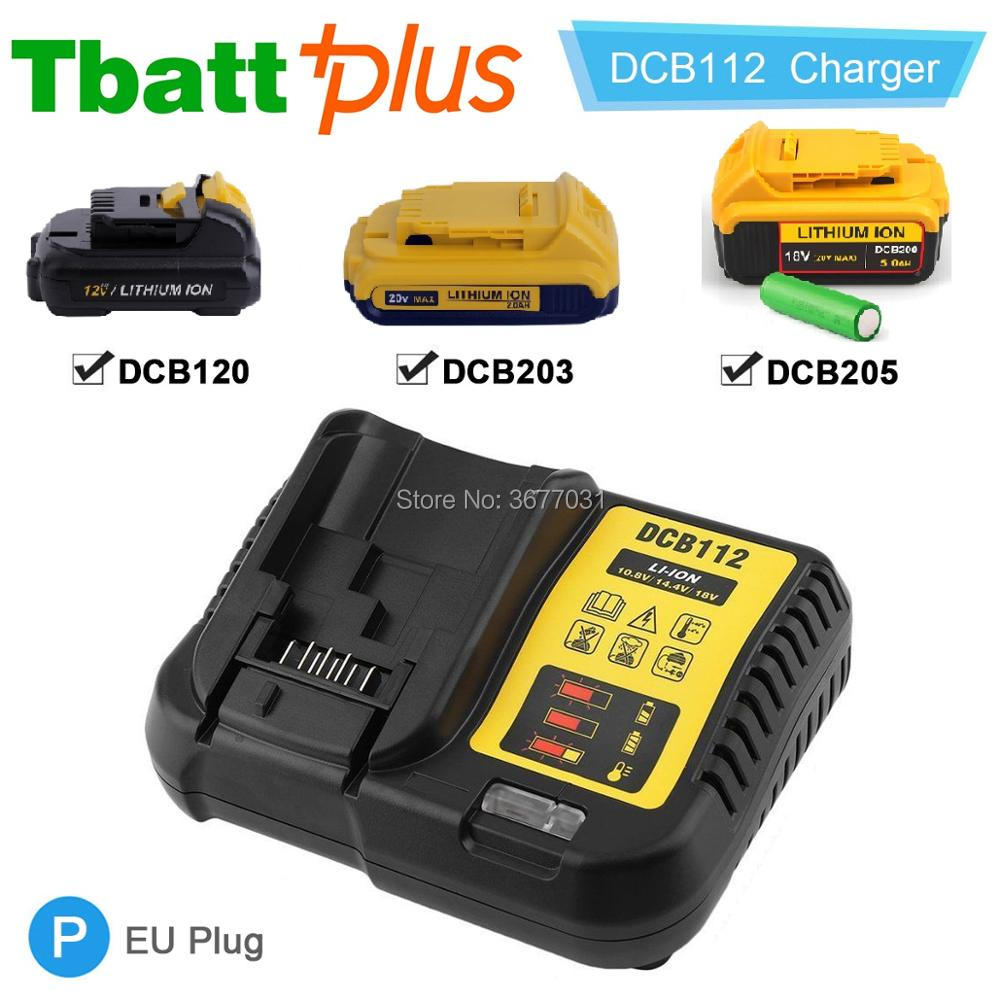 Tbattplus New Dewalt 20v Dcb203 Battery Dcb112 Charger 20 Ah Max Baterai Cordless 18v 40 Asli Volt 20ah Dcb200 Dcb180 In Replacement Batteries From
