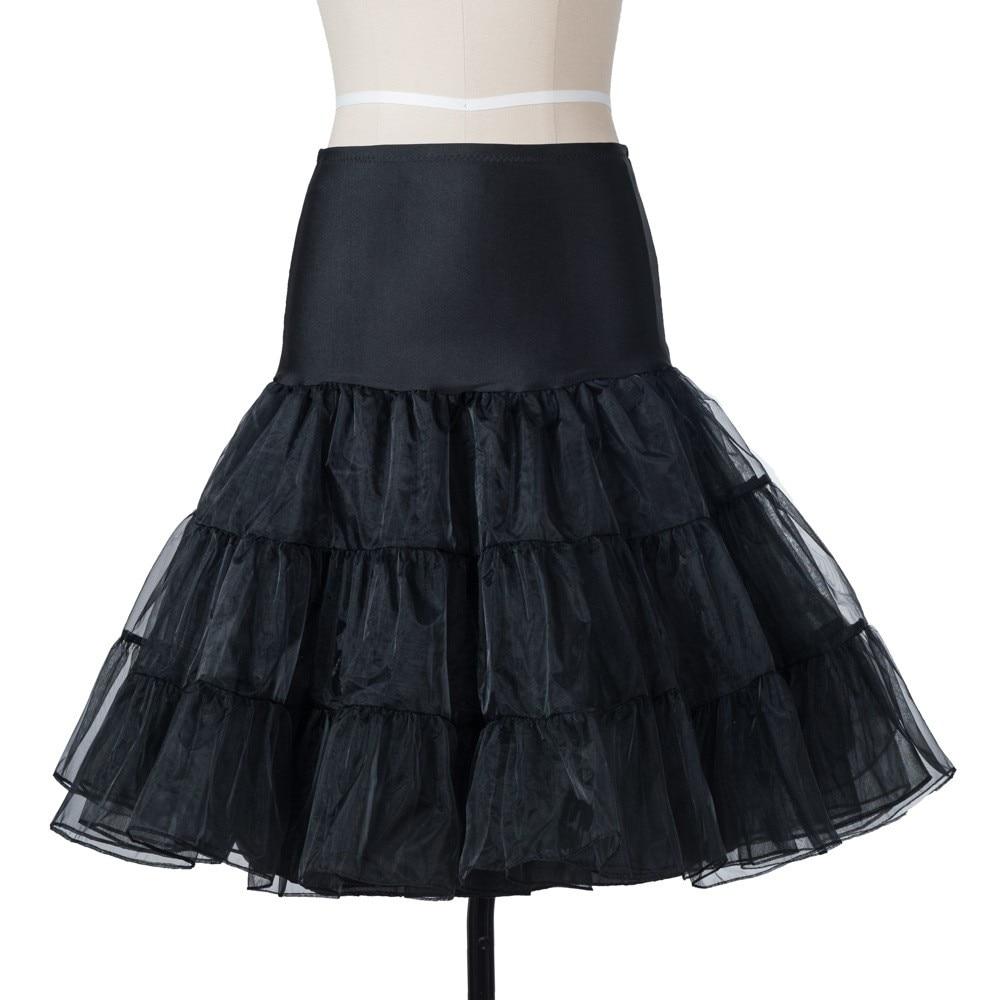 Free Short Organza Halloween Petticoat Lolita Rockabilly Ruffle Vintage Women s 50s Crinoline Tutu Underskirt 26