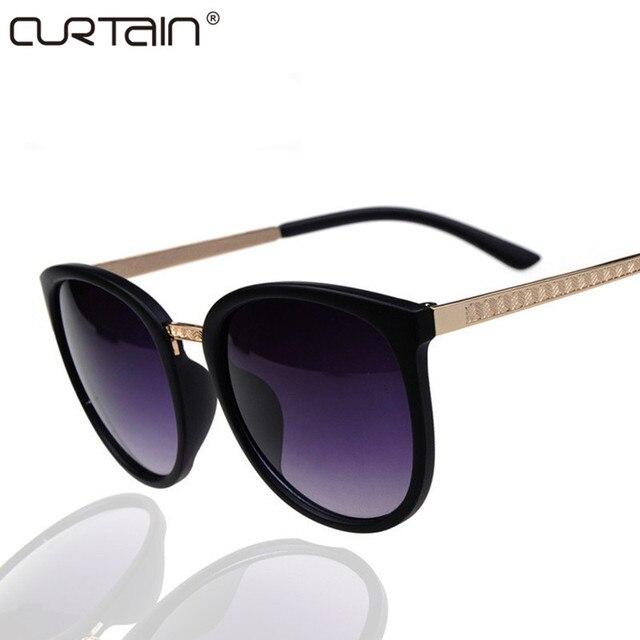 8d8f0cfbaa6 CURTAIN Round Fashion Glasses Oversized Sunglasses Women Brand Designer  Luxury Womens Eyeglasses Big Cheap Shades Oculos