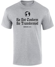 Be Not Confrom Transformed The World Jesus Christ Christian Quote Men T Shirt  Free shipping Tops Fashion Classic Unique gift