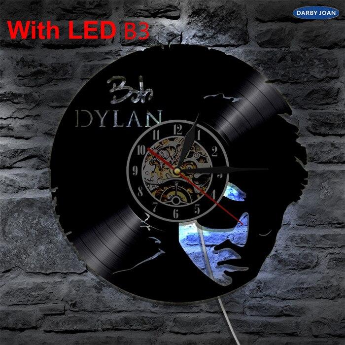 US $22 35 48% OFF|Bob Marley One Love For Reggae Lover Vinyl Clock Led  Light Vintage LP Record Handmade Gift Decorative Silhouette Lamp-in Wall  Clocks
