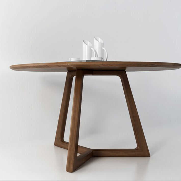 Concorde Table Italy Nordic Wood Round Dining Table Solid Wood