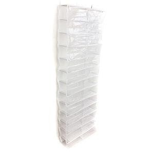 Image 1 - PHFU 26 Pairs Over Door Hanging Stand Shoe Rack Shelf Storage Organiser Pocket Holder Creamy white