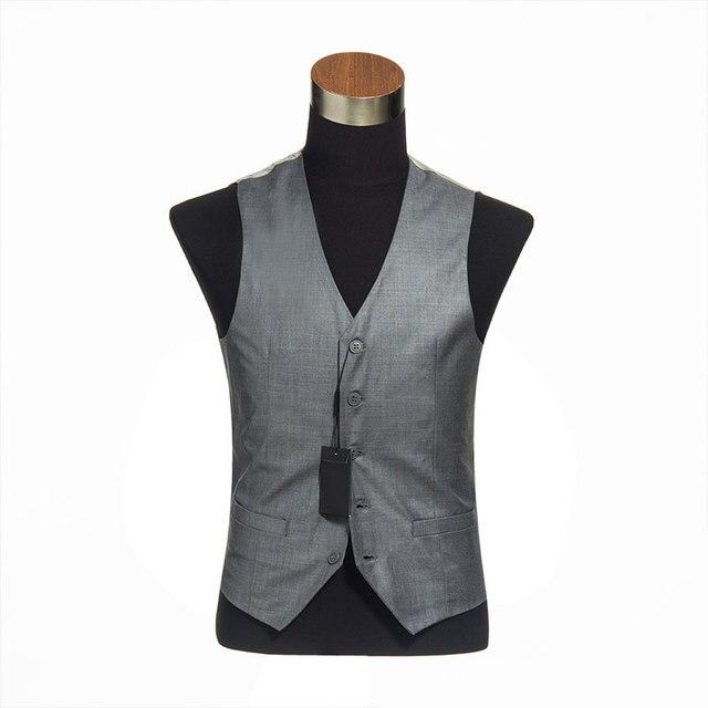 Mens Vests Waistcoat Para Hombres Gilet Costume Homme Slim Suit heren gilet gilet costume men waist coat 2016 gilet elegante men