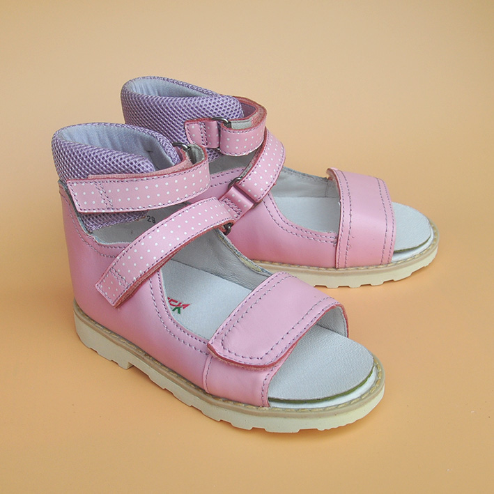new 1pair without arch support Girl Genuine Leather healthy Orthopedic Shoes, Super quality Summer Children Kid Shoes