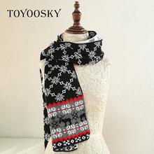 female Wool Warm  Multi colored Scarf at cheap price