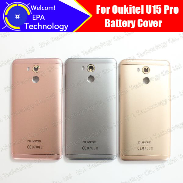 Oukitel U15 Pro Battery Cover 100% Original New Durable Back Case Mobile Phone Accessory for U15 Pro free shipping