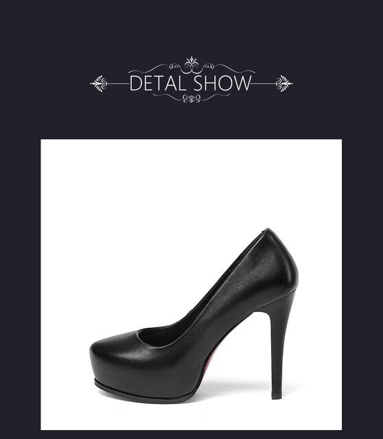Женские туфли лодочки на платформе sophitina офисные из натуральной