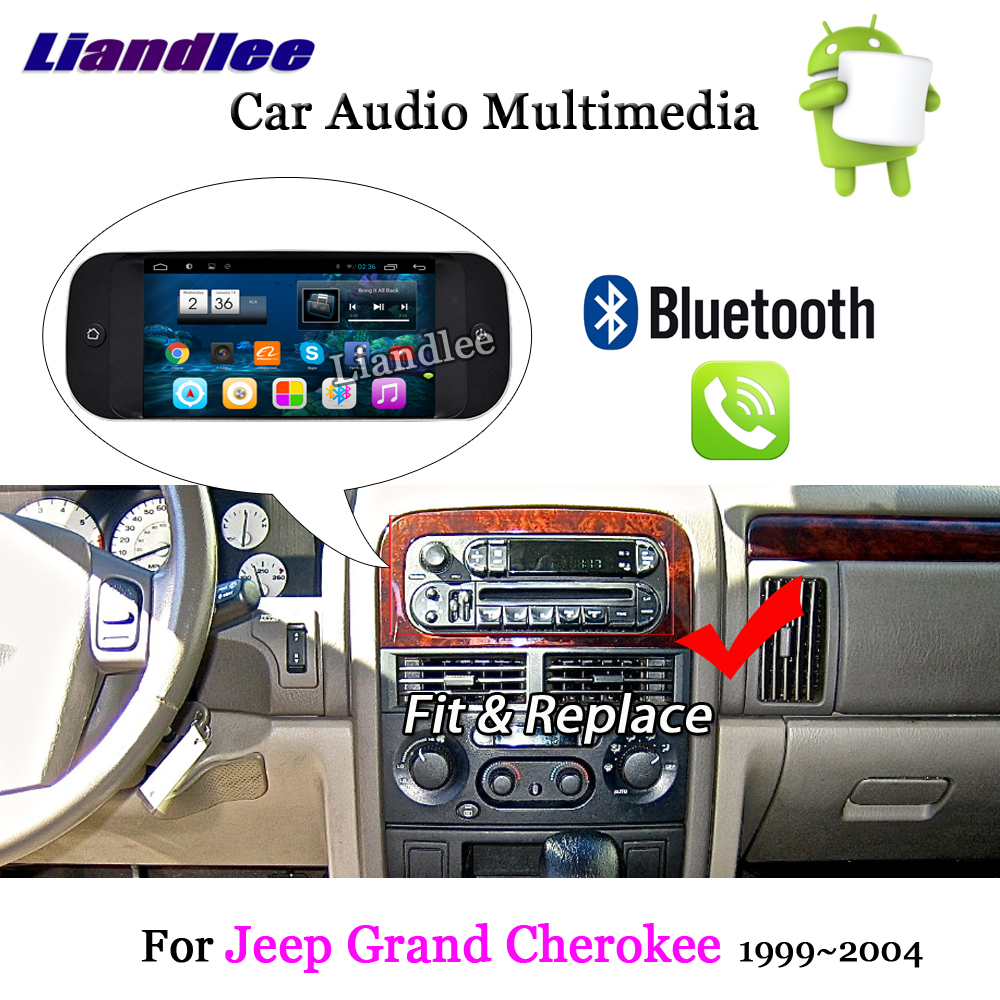 Liandlee Car Android System For Jeep Grand Cherokee 1999 2004 Radio Stereo Carplay GPS Navi MAP