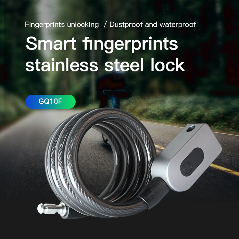 Smart Fingerprints Bicycle Lock Steel Chain Anti Theft Waterproof  Lock Access Cycling Motorcycle Cycle Bike Security Lock|Electric Lock| |  - title=