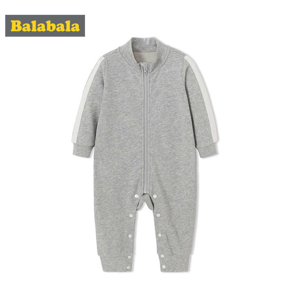 Balabala الطفل 100% لينة القطن الرياضة بذلة مع موقف متابعة طوق الرضع حديثي الولادة طفل رضيع من قطعة واحدة رومبير مضلع صفعة و تنحنح