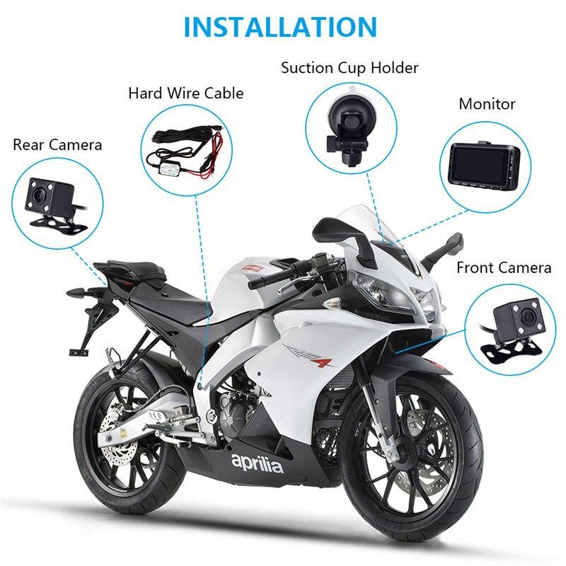 Fodsports 3 Inch DV168  Motorcycle DVR Motorbike Video Recorder 4