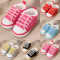 2016 Autunm Winter Infant Baby Kid Boy Girl Crib Shoes Soft Sole Cotton Velvet Canvas Sneaker Shoes