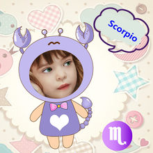 Habinisi diy photo custom zodiac Scorpio creative plush doll the best gift boneca lol baby reborn baby toys girls toys hot sale(China)