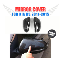 Carbon Fiber Rear View Mirror Covers Side Wings Caps Car Sticker For Kia Optima K5 2011 2015 Add On Style