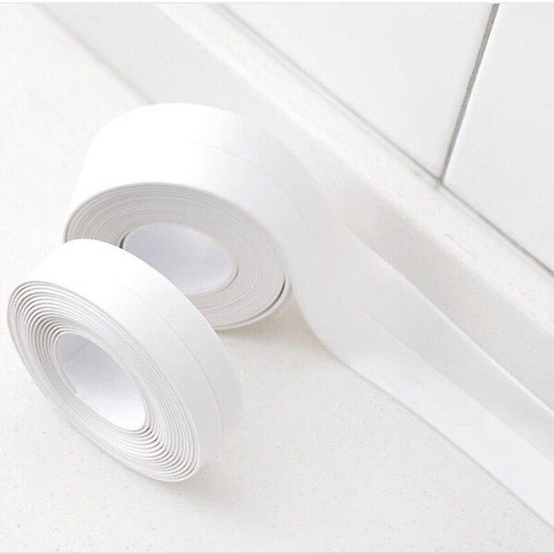 3,8 cm * 3,2 mt Küche Bad Wasserdichte Mehltau Dichtband Wandaufkleber Steuern Dekor Ecke Naht Waschbecken Selbstklebende Pvc-aufkleber