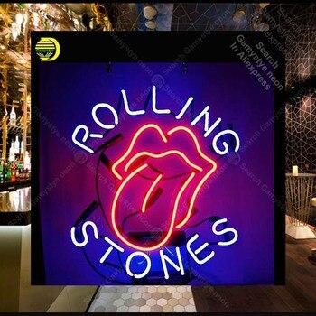 Rolli Ston Sinal de Néon Sinal lâmpada de néon música Tubo de Vidro Real neon luz Recreação Icônica loja Exibição Anuncie Sinal personalizado