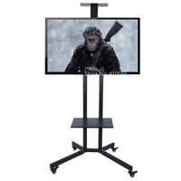 Portable Flat Screen TV Stand Movable Plasma Television Floor Tripod Bracket 32 To 64inch For Home Office School Monitor