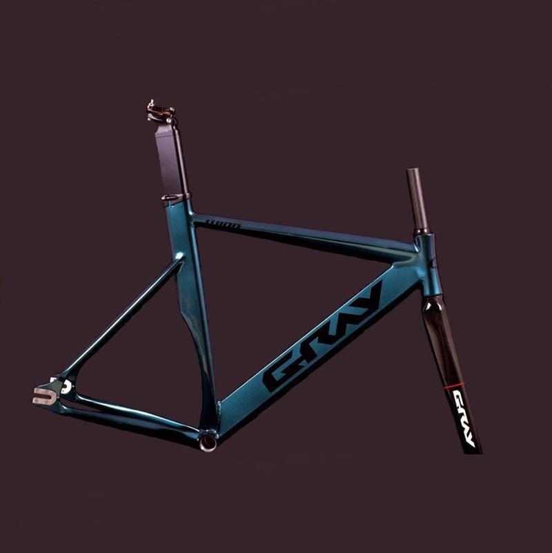 Fixie  Bike Frame 52cm  56cm Track Bike Frame  Aluminum Alloy  Drawing Fixed Gear Bike  Frame With Carbon Fork