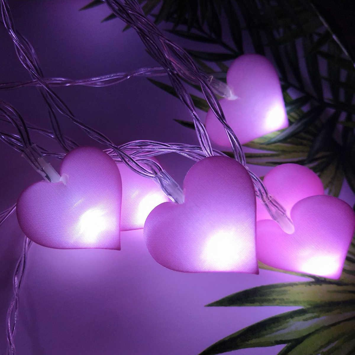 30 см 20 светодиодов в форме сердца, световые светодиоды, любовь, гирлянда, освещение для спальни, фонарики для украшения, аксессуары для стрельбы для девочек